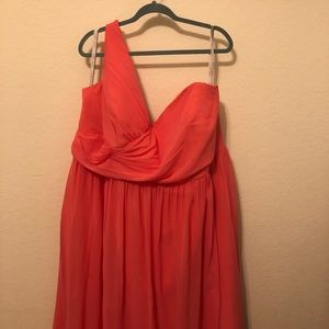 Alfred Angelo Coral Bridesmaid Dress Plus Size